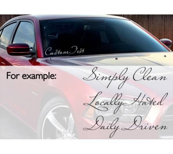 Buy Max Any Custom Text Banner Windshield Stripe JDM Decal Car - Custom vinyl decals for car windshield