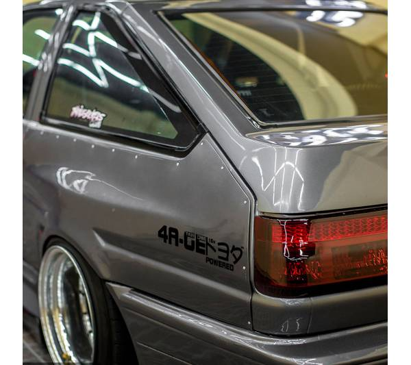 4AGE Toyota Twin Cam 16-valve DOHC Corolla Levin Trueno Sprinter 4A-GE AE86 トヨタ TRD  JDM Banner Stance Drift Racing Vinyl Sticker Decal