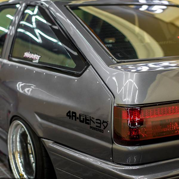 4AGE Twin Cam 16-valve DOHC Corolla Levin Trueno Sprinter 4A-GE AE86 トヨタ TRD JDM Banner Stance Drift Racing Vinyl Sticker Decal>
