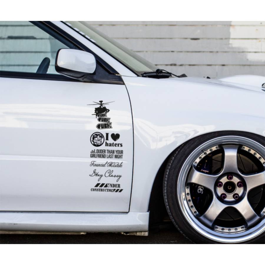 Buy 6in1 Set JDM Bomb Daily Lowered Stance Style Car ...