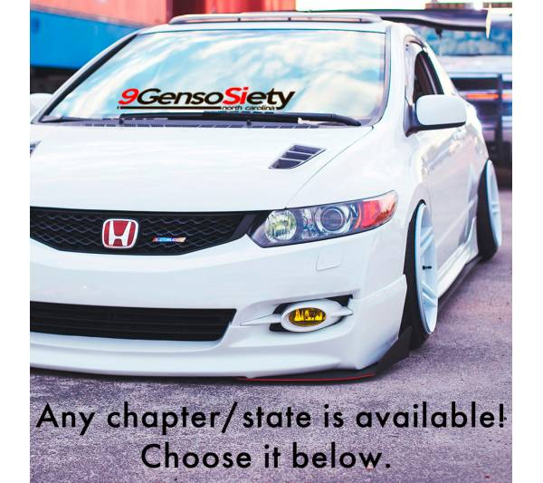 9 Generation 9GensoSiety Society Honda Civic Low Slow Show Stance Standard Slammed  JDM Car Vinyl Sticker Decal