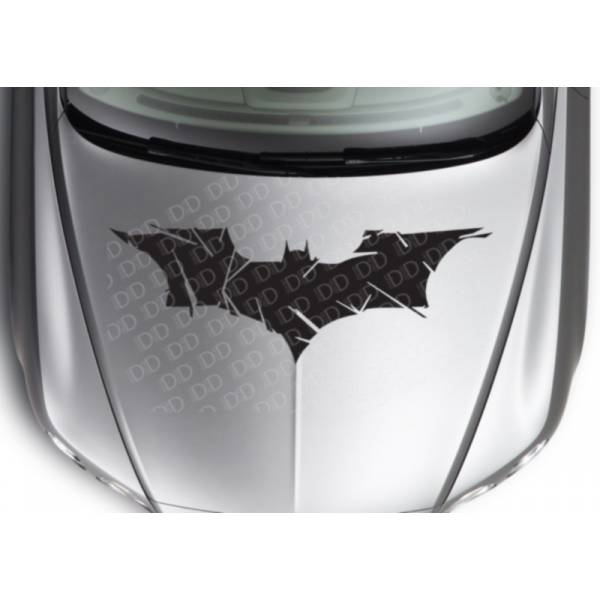 Large Dark Batman Crash Logo Superhero Comic Car Hood Body Vinyl Sticker Decal