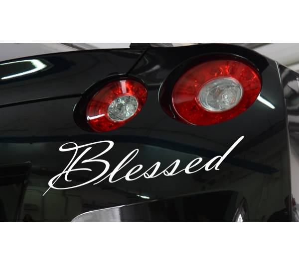 Blessed JDM Lowered Low Slammed Stance Euro Lifestyle Stance Vinyl Sticker Decal