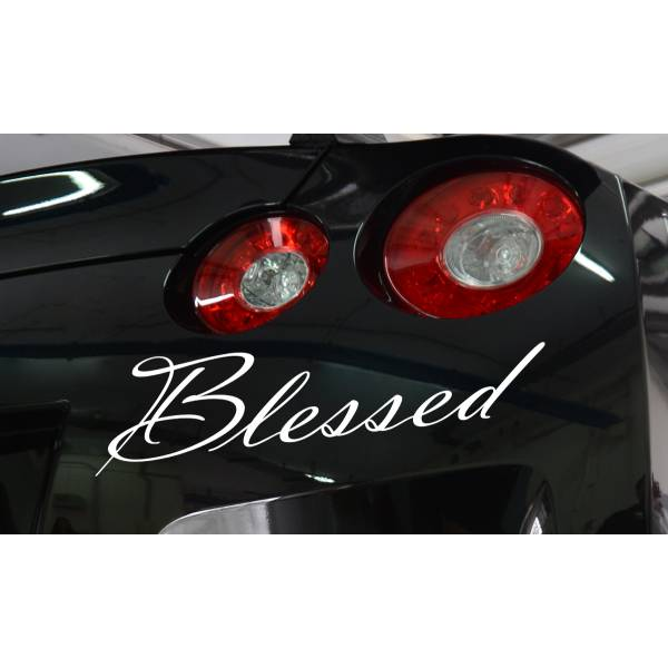 Blessed JDM Lowered Low Slammed Stance Euro Lifestyle Stance Vinyl Sticker Decal >