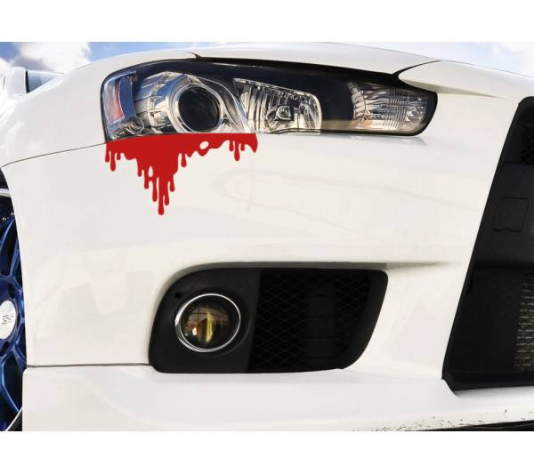 Blood Bleeding JDM Car Rear Front Headlight Bumper Body Vinyl Sticker Decal