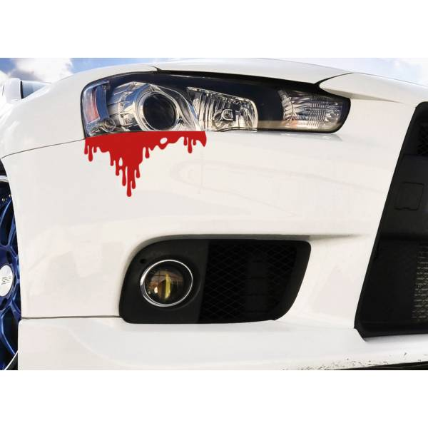 Blood Bleeding JDM Car Rear Front Headlight Bumper Body Vinyl Sticker Decal