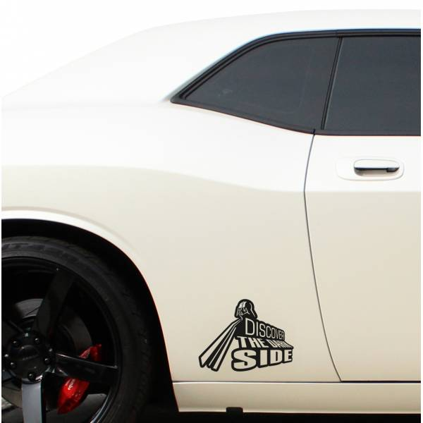 Discover the Dark Side Darth Sith Jedi Galactic Empire Car Window Body Laptop Vinyl Sticker Decal>