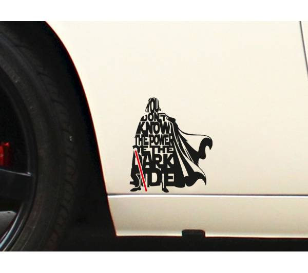 Darth Vader Lightsaber Star Wars Dark Side Force Car Laptop Vinyl Sticker Decal