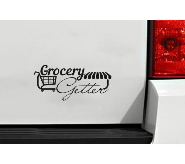 Funny Grocery Getter Daily Driven JDM Stance Low Drift Car Vinyl Sticker Decal