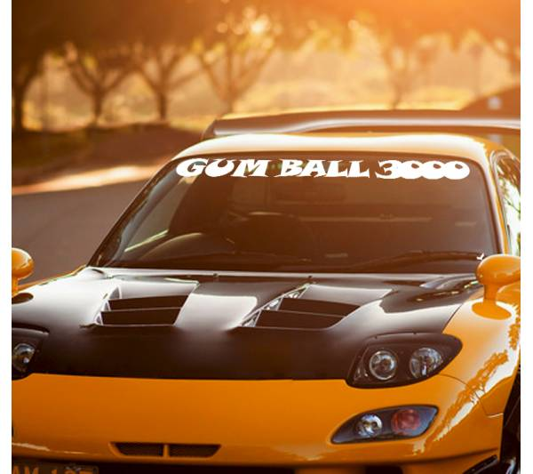 Gumball 3000 Logo Windshield v1 Rally Race Show  JDM Stance Royal Stance Event Low Vinyl Decal
