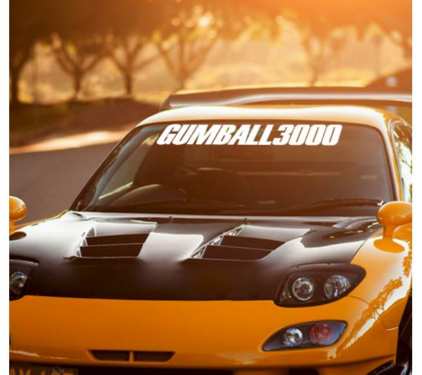 Gumball 3000 Logo Windshield v2 Rally Race Show  JDM Stance Royal Stance Event Low Vinyl Decal
