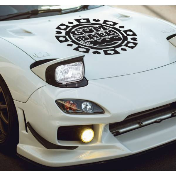 Hood Gumball 3000 Logo v2 Rally Race Show  JDM Stance Royal Stance Event Low Vinyl Decal