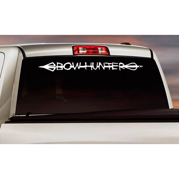 Bow Hunter Arrow Broadhead Deer Duck Hunting Truck Window Vinyl Sticker Decal>