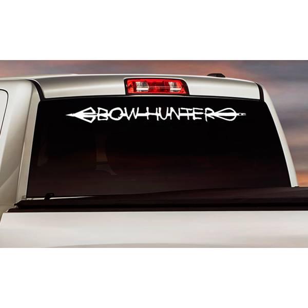 Bow Hunter Arrow Broadhead Deer Duck Hunting Truck Window Vinyl Sticker Decal