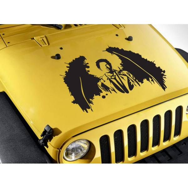 Hood Supernatural Castiel Wings Angel Sam Dean Winchester TV Car Vinyl Sticker Decal