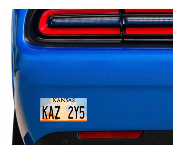 Hood Supernatural Impala Sticker of Licence Plate KAZ 2Y5 Sam Dean Winchester TV Car Vinyl Decal