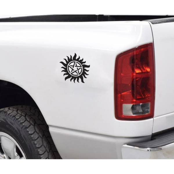 2x Pair Supernatural Anti-Possession Sign Sam Dean Winchester TV Car Vinyl Sticker Decal