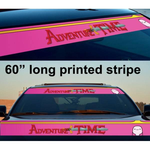 "60"" Bubblegum Princess Adventure Time Sun Strip Printed Windshield Vinyl Sticker Decal"