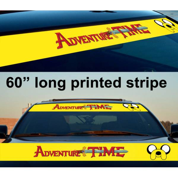 "60"" Jake the Dog Adventure Time Sun Strip Printed Windshield Car Vinyl Sticker Decal"