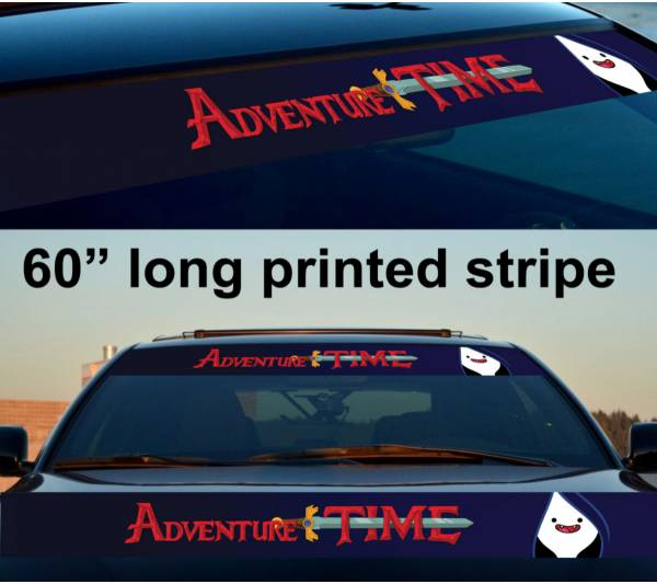 "60"" Marceline Adventure Time Sun Strip Printed Windshield Vinyl Sticker Decal"