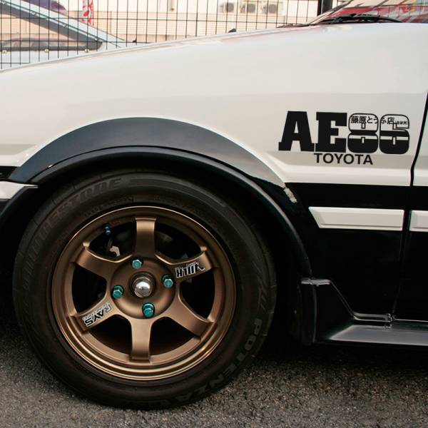 AE86 Initial D Fujiwara JDM Anime Racing 4AGE Toyota Corolla Levin Trueno Sprinter トヨタ TRD  JDM Banner Stance Drift Racing Vinyl Sticker Decal