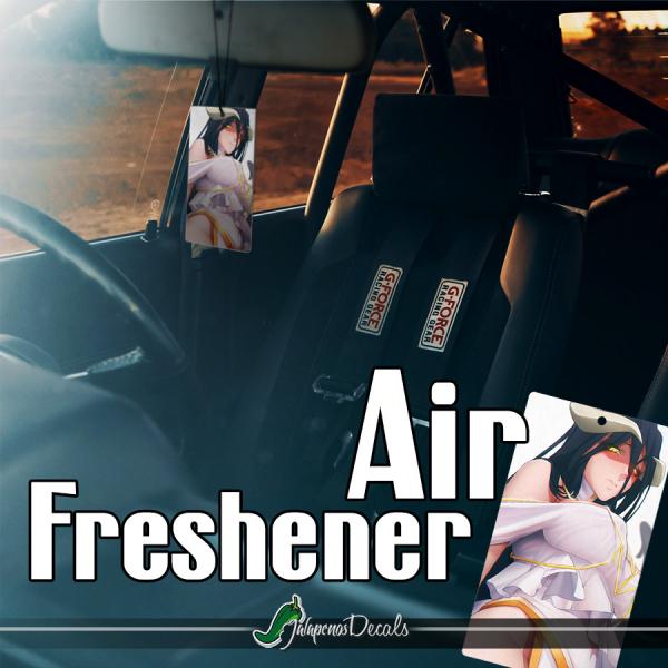 Albedo Great Tomb Nazarick Ainz Ooal Gown Shalltear Bloodfallen Anime Manga Printed Car Air Freshener>
