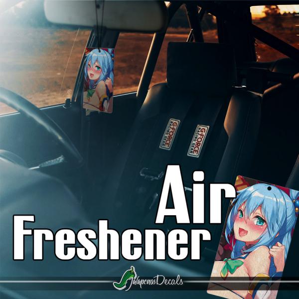Aqua Fantasy World Goddess Water Axis Order Kingdom Belzerg Otaku Girl Kawaii Anime Manga Printed Car Air Freshener>