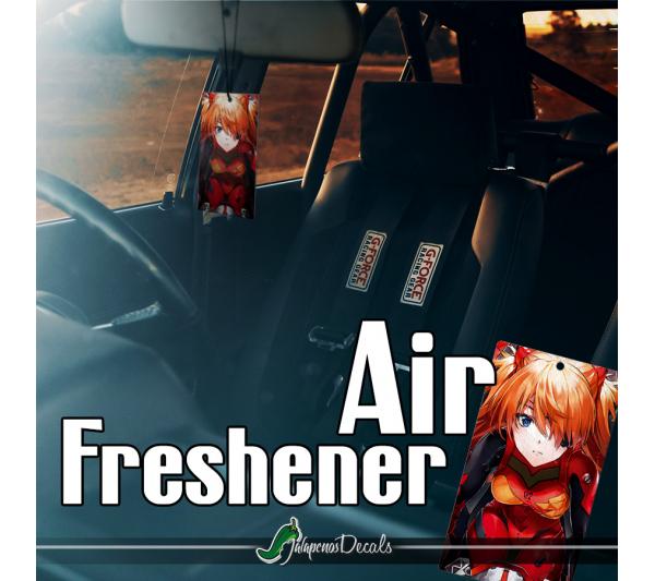 Eva Unit 02 Asuka Langley Soryu Angel NERV Anime Manga Printed Eco Leather Car Air Freshener>