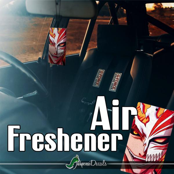 Ichigo Kurosaki Hollow's Mask Soul Substitute Shinigami Death Kuchiki Urahara Anime Manga Printed Eco Leather Car Air Freshener>
