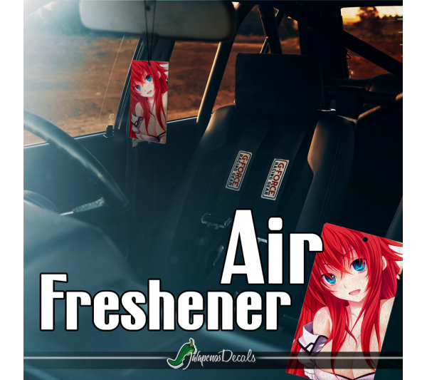 Rias Gremory Pure-Blooded Devil Lucifer Crimson Haired Ruin Princess Hot Sexy Girl Boobs Otaku Weeb Anime Manga Printed Car Air Freshener>