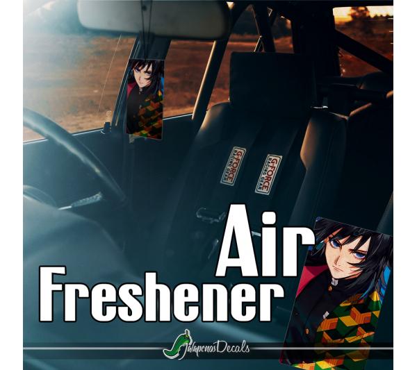 Giyu Tomioka Water Hashira Haori Demon Otaku Weeb Anime Manga Printed Car Air Freshener>