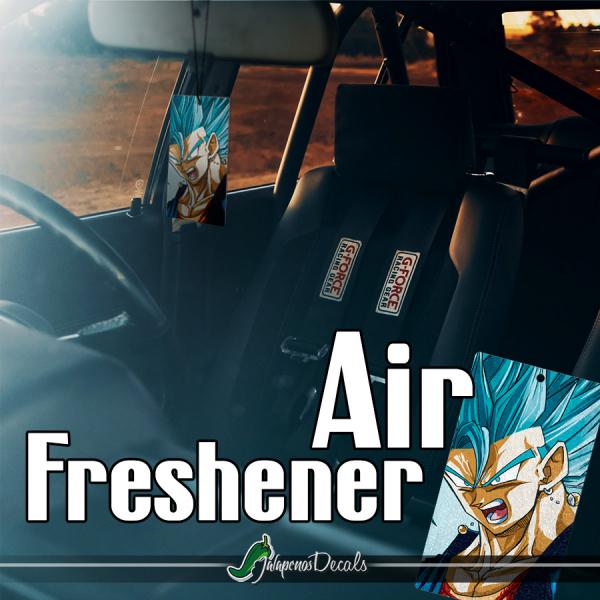 Vegito Blue v1 Vegerot Goku Vegeta Super Saiyan Z Super DBZ Fusion Dance Gogeta Anime Manga Printed Car Air Freshener>