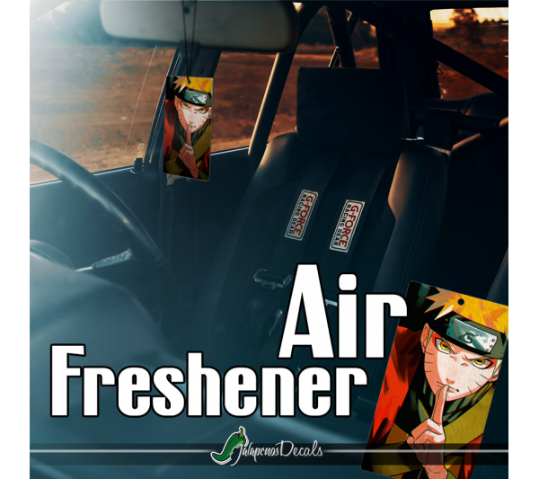 Uzumaki Shinobi Nine-Tails Konoha Konohagakure Team Kakashi Otaku Weeb Anime Manga Printed Car Air Freshener>