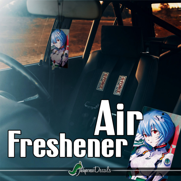 Eva Unit 00 Rei Ayanami Angel NERV Anime Manga Printed Car Air Freshener>