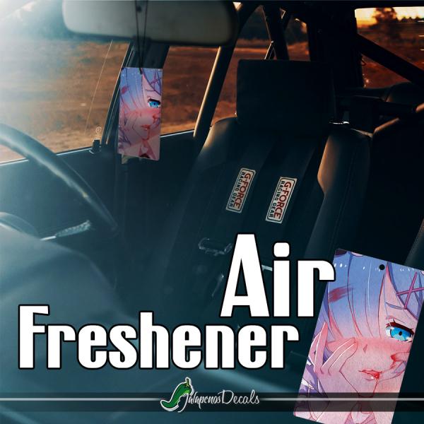Rem Blue Twin Maid Roswaal Mathers Water Magic Lye Oni Otaku Weeb Anime Manga Printed Car Air Freshener>