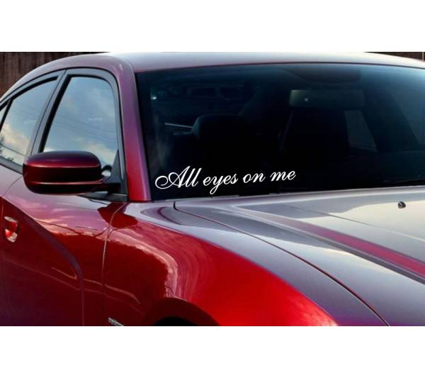 JDM Windshield All Eyes on Me Japan Royal VIP Stance Vinyl Decal Car Any Color