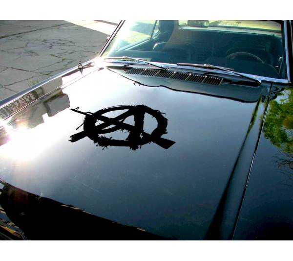 Anarchy Hood v1 Guns Order Anonymous Car Truck Vinyl Sticker Decal