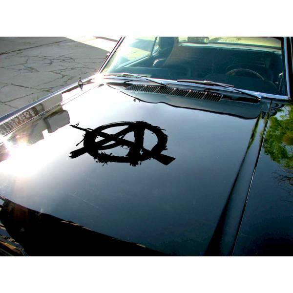 Anarchy Hood v1 Guns Order Anonymous Car Truck Vinyl Sticker Decal