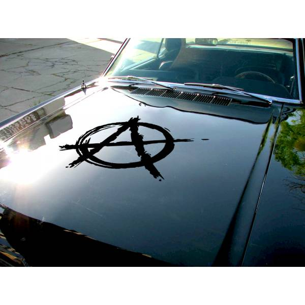 Anarchy Hood v2 Guns Order Anonymous Car Truck Vinyl Sticker Decal>