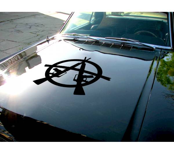Anarchy Hood v3 Guns Order Anonymous Car Truck Vinyl Sticker Decal