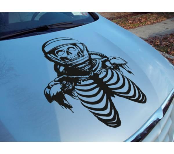 Hood Zombie Astronaut Skull Helmet Outbreak Response Team Vinyl Decal Walking