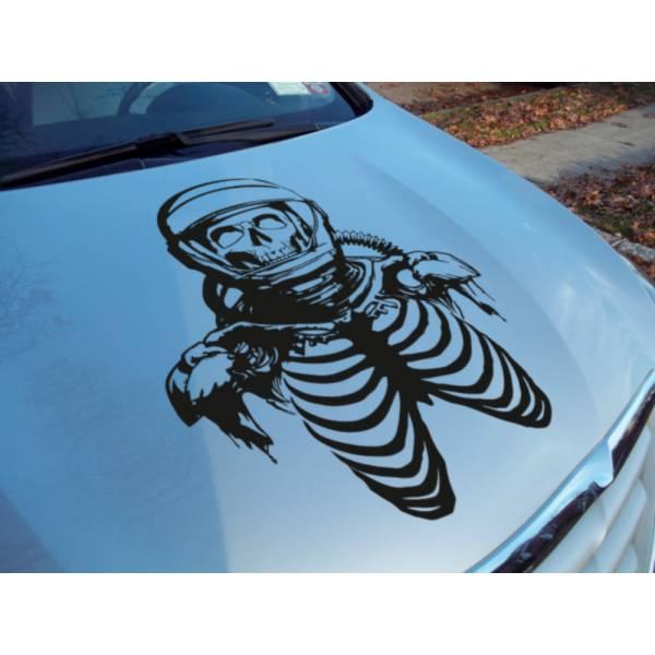 Hood Zombie Astronaut Skull Helmet Outbreak Response Team Vinyl Decal Walking>