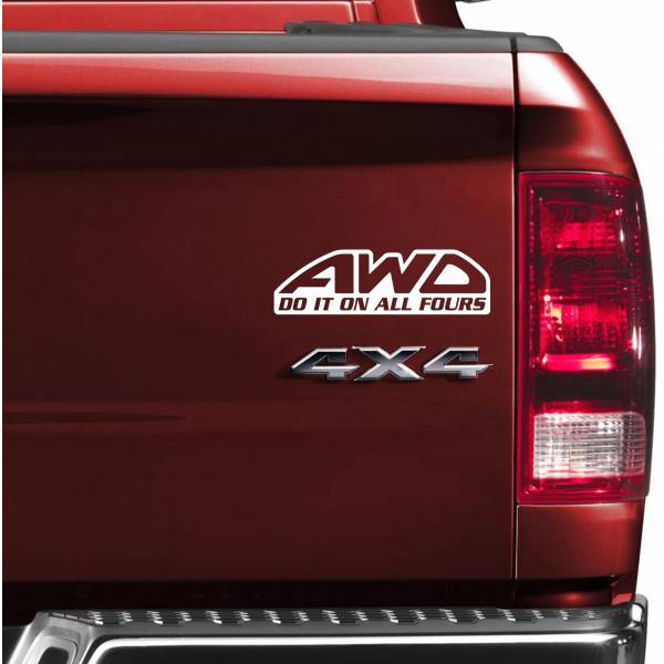 Do It On All Fours 4x4 AWD 4WD Off Road Car Truck Vinyl Sticker Decal	>