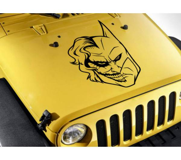 Joker vs Batman Face Why Serious Dark Knight Gotham Superhero DC Decal Car Truck Hood Vinyl Sticker