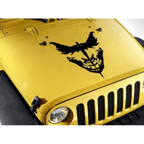 Joker vs Batman Logo Wings Why Serious Dark Knight Gotham Superhero DC Decal Car Truck Hood Vinyl Sticker