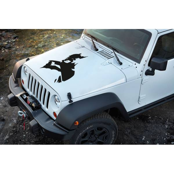 Dark v1 Bruce Wayne Gotham Shadow Comic Superhero Decal Car Truck Hood Vinyl Sticker>