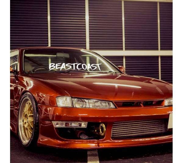 Beastcoast Beast Banner Drift Racing Low Stance Royal Slammed JDM Windshield Build Event Meet Car Vinyl Sticker Decal
