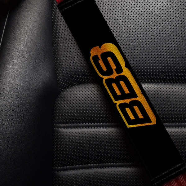BBS Wheels Logo Automotive Technology AG Motorsport Aftermarket Turbo Street Tuning Parts Sport Sponsor Eco Leather Printed Car Seat Belt Cover