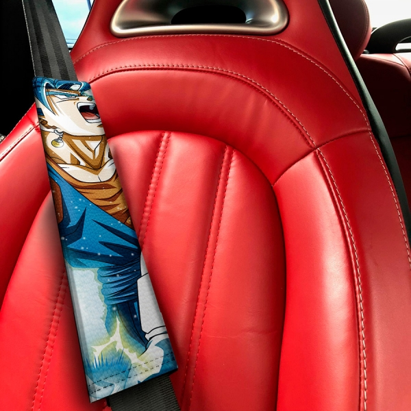 Goku Super Saiyan Blue Dragon Ball Z Super ドラゴンボール DBZ Funny JDM Anime Manga Eco Leather Printed Car Seat Belt Cover