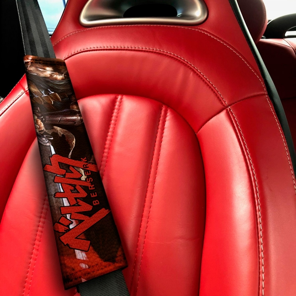 Berserk Guts Armor Knight Griffith Crimson Behelit God Sacrifice Anime Manga Eco Leather Printed Car Seat Belt Cover>